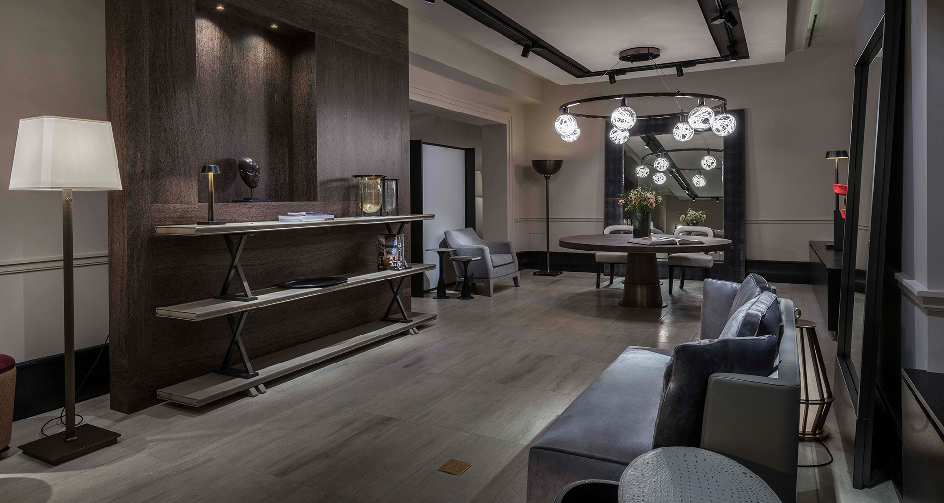 Living room in Promemoria's single-brand showroom in Munich | Promemoria