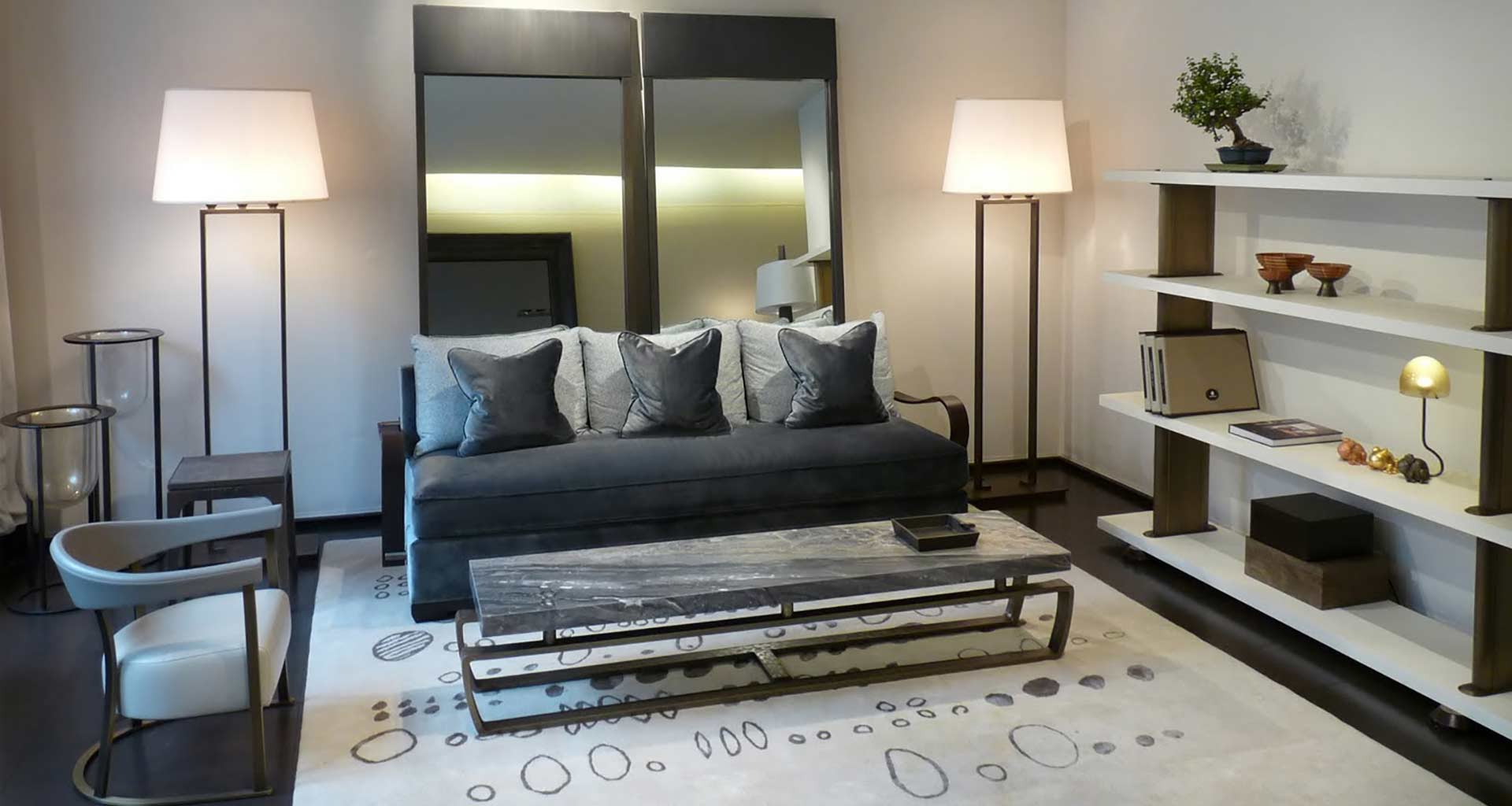 Living room in Promemoria's single-brand showroom in Paris | Promemoria